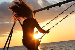 swing sunset