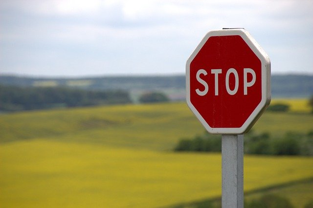 sign says stop